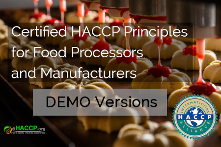 Free Demo Version Certified HACCP Principles for Food Processors and Manufacturers